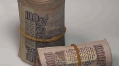 Indian Currency Stock Footage