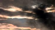 Stock Video Footage of sunset rain 1