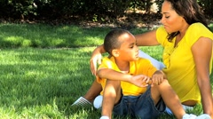 Portrait of Loving Ethnic Mother & Son Stock Footage
