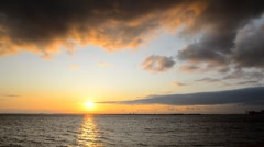 Sunset at the sea - stock footage