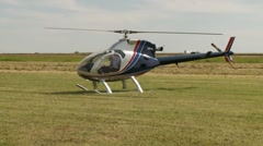 Aircraft, rotorway exec helicopter startup Stock Footage