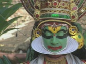 Goa / Cochin Kathakali Dancer performing Stock Footage