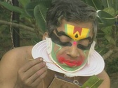 Stock Video Footage of Goa / Cochin Kathakali Dancer applying makeup