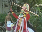 Stock Video Footage of Goa / Cochin Kathakali Dancer performing