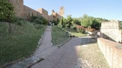 Malaga Alcazaba Fortress Stock Footage