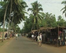Stock Video Footage of Goa / Cochin street scene