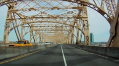 POV Driving 59th bridge Part 3 Stock Footage