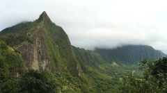 Pali and Koolau Ridge Stock Footage