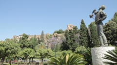 Malaga City Park Stock Footage