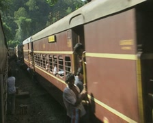Goa / Cochin Passenger train on Indian Railways Stock Footage