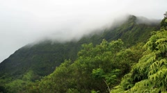 Koolau misty mountains time lapse Stock Footage