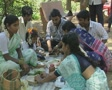 Goa / Cochin Indian family enjoying a picnic Footage