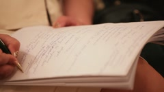Diligent study Stock Footage