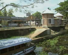 Stock Video Footage of Goa / Cochin tourist boat moored at the side of a canal