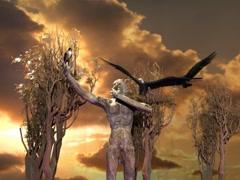 God Pan Creature Animation Stock Footage
