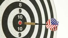 American bullseye Stock Footage