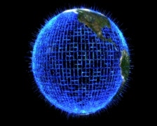 3D Earth Holographic Stock Footage