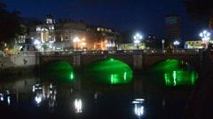 Bridge in Dublin. Stock Footage