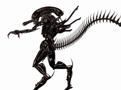 H.R Giger Alien XT Creature Animation Stock Footage