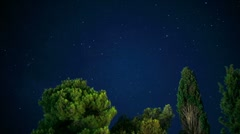 Time-lapse: moving night sky with a lot of stars Stock Footage