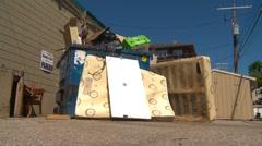 too much garbage on bin, irresponsible dumping, #2 - stock footage