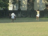 Goa / Cochin Indian children playing cricket Stock Footage