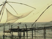 Stock Video Footage of Goa / Cochin Chinese fishing nets