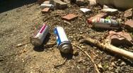 Graffitti, paint cans to graffiti wall, #5 Stock Footage