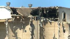 Concrete seed mill demolition, ca.1915 grain elevator, #1 Stock Footage