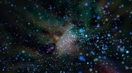 Travelling  through colorful outer space Stock Footage