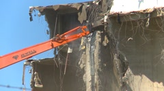 Concrete seed mill demolition with jaws, #7 Stock Footage