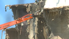 Concrete seed mill demolition with jaws, #6 Stock Footage