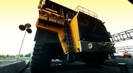 Mining truck garage 002 Stock Footage