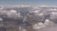 Stock Video Footage of Aerial View of Clouds from Airplane