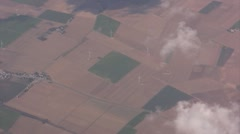 Aerial View of the countryside from a plane - stock footage