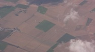 Stock Video Footage of Aerial View of the countryside from a plane