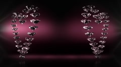 Two Golden Hearts Stock Footage