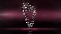 Diamond heart Stock Footage