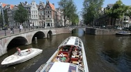 Stock Video Footage of Giant Tourboat in Amsterdam