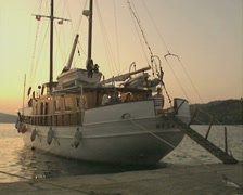 Moored boat Stock Footage