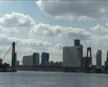 Willemsbrug Rotterdam Stock Footage