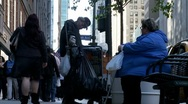 Homelessness & Obesity Stock Footage