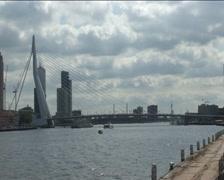 Rotterdam Erasmusbridge Stock Footage