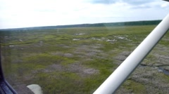 Flying low over tundra 2 Stock Footage