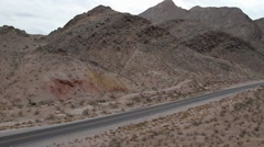 Desert Pan With Car 2 Stock Footage