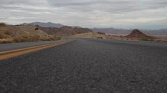 Desert Road Yellow Line GlideTrack Stock Footage