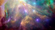 Colorful space background Stock Footage