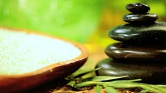 Balanced Spa Stones & Alternative Relaxation Products Stock Footage