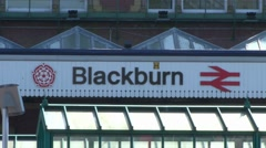 Blackburn Railway and Bus Station Stock Footage
