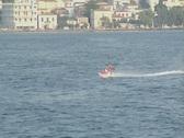 Person riding jetski Stock Footage